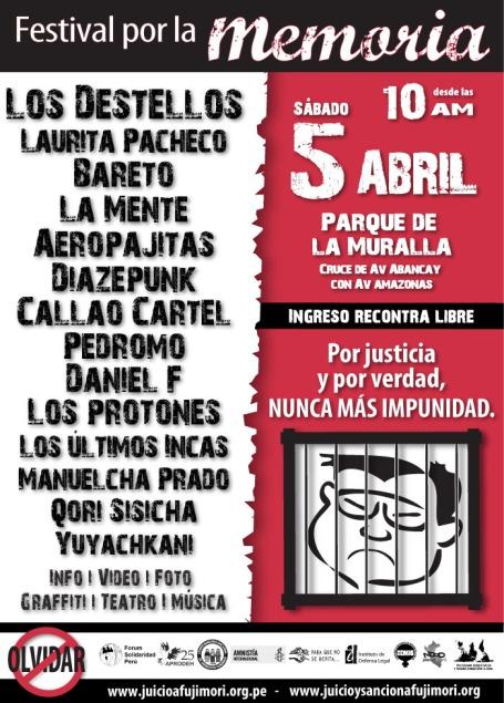 cartel festival por la memoria