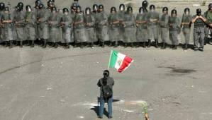 Una imagen de la resistencia en Oaxaca